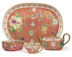 387. a rare wedgwood white ware 'jubilee' pattern part tea service circa 1810