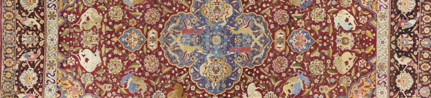 Hunting Indian Carpet in an auction selling rugs and carpets
