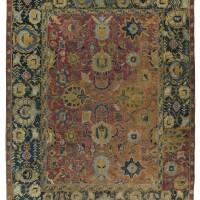 21. an isphahan fragmentary carpet, central persia