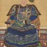 44. 佚名 清十八至十九世紀 官員畫像 設色絹本 立軸