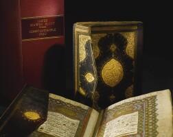 52. an illuminated ottoman qu'ran, copied by ahmed, dated 1121 ah/1709 ad,and dala'il al-khayrat, copied by muhammad ibn 'ali wahbi,turkey, dated 1209 ah/1784 ad