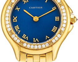 121. cartier   reference 3884 a yellow gold and diamond-set wristwatch with bracelet, circa2000