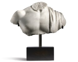 3001. a roman marble bust of a man c. 2nd century ad