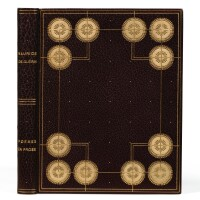 6. barbier -- guerin. poèmes en prose. blaizot, 1928. reliure de legrain. avec lettre et aquarelle de barbier