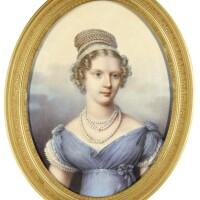 324. henri benner | portrait of grand duchess alexandra feodorovna, later empress ofrussia, née princess charlotte of prussia (1798-1860), circa 1821