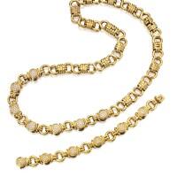 14. 18 karat gold and diamond bracelet-necklace combination