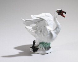 44. a meissen figure of a swan circa 1750