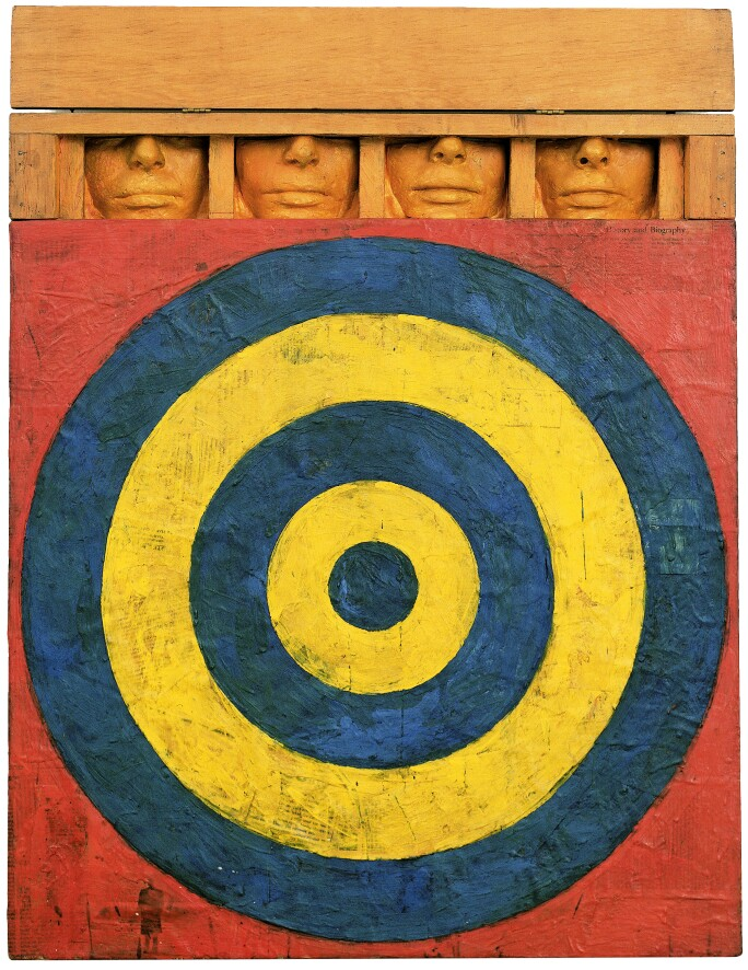 Jasper Johns, Target with four faces, 1955, MoMA, New York.