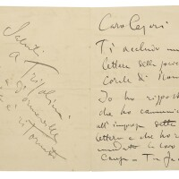 197. puccini, giacomo. autograph letter signed, enclosing a letter from the rome choral society