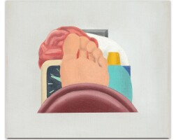 107. tom wesselmann | study for bedroom painting #24