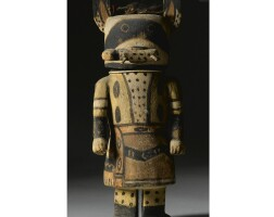 4. a hopi polychrome wood kachina doll, attributed to wilson tawaquaptewa