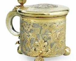 4. grande chope couverte en argent et vermeil par andrej kostrinskij, moscou, vers 1745,