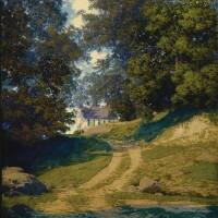 34. maxfield parrish | village school house