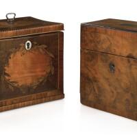341. two george iii mahogany tea caddies |