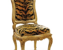 28. an italian carved giltwood (à châssis) chair, probably genoa, mid-18th century |