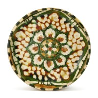 309. an impressive sancai 'lotus' dish tang dynasty  