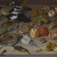 133. georg flegel | still life with birds, fruit and nuts