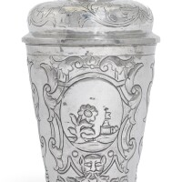 12. a silver covered beaker, moscow, 1750 |
