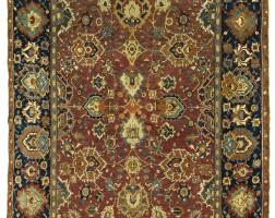 18. an isphahan rug, central persia
