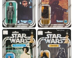 27. four star wars '12a-back' action figures, 1978