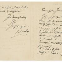 """170. brahms, johannes. fine autograph letter signed (""""j.brahms""""), to the bach scholar philipp spitta"""