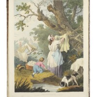 6. blagdon, francis william, andgeorge morland. 'authentic memoirs of the late george morland ... together with a facsimile of his writing, specimens of his hieroglyphical sketches, &c'.london: edward orme, 1806 [watermarked 1824]