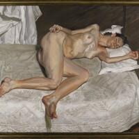 6. 盧西安‧弗洛伊德 | 《白色床罩上的裸女肖像》