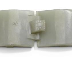 203. a celadon jade belt hook qing dynasty, 19th century