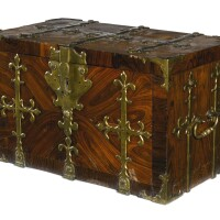 47. a louis xiv gilt-brass mounted kingwood and rosewood coffre-fort, late 17th century  