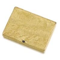 332. a gold cigarette case, st petersburg, 1908-1917