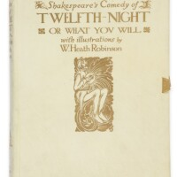 306. shakespeare, william. twelfth night, or what you will. london: 1908. one of 350 copies, signed by the artist