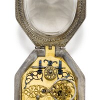 3. elias weckherlin, augsburg | an octagonal verge watch with later dial and later rock crystal and silver mounted casemovement circa 1645, case and dial 19th century