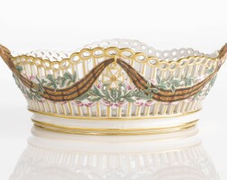 12. a russian porcelain basket from the service for the imperial order of st. george, gardner porcelain manufactory, verbilki, 1777-1778