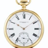 196. 百達翡麗(patek philippe) | 「chronometro gondolo」粉紅金懷錶,1905年製。