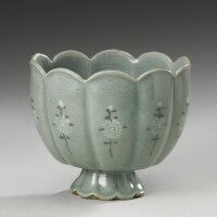 53. a korean slip-inlaid celadon stoneware cup goryeo dynasty, 13th century