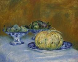 9. 皮耶・奧古斯特・雷諾瓦 | 《靜物與甜瓜、杏仁及無花果》
