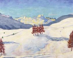 26. giovanni giacometti | winter bei st. moritz, 1916
