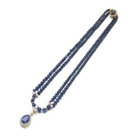 47. sapphire and diamond necklace