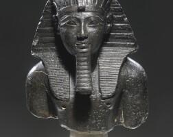 4. an egyptian basalt bust of tuthmosis iii, 18th dynasty, reign of tuthmosis iii, 1479-1426 b.c.
