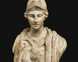 21. a roman marble bust of athena, circa 2nd century a.d. | a roman marble bust of athena