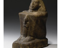 7. an egyptian quartzite block statue of a man, 19th dynasty, reign of ramesses ii, 1279-1213 b.c.