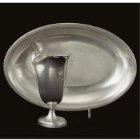 30. a royal german silver ewer and basin, maker's mark hvl (rosenberg iii 4625), stuttgart, circa 1845
