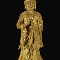 305. a gilt-bronze figure of kashyapa ming dynasty, 16th / 17th century |