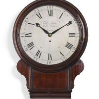 14. amahogany drop-dial wall timepiece, thomas mudge and william dutton, london, circa 1770 |