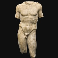 23. a roman marble figure of an athlete, circa 1st/2nd century a.d. | a roman marble figure of an athlete