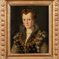 5. studio of alessandro alloriflorence 1535 - 1607 | portrait of camilla martelli (circa 1545-1590)