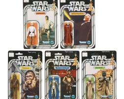 28. five star wars '12b-back' action figures, 1978