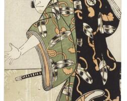 44. katsukawa shun'ei (1762–1819)afull length portrait of an actor in a dramatic pose edo period, late 18th  