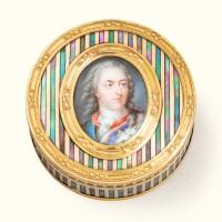 51. a two-colour gold-mounted royal portrait box, paris, 1771 |