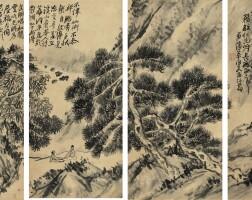528. 蒲華 1834-1911 | 松間論道